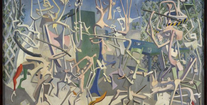 Mayo, Coups de bâtons, 1937, Öl auf Leinwand, 167 x 243 cm Sergio and Renata Grossetti Collection, Mailand, © ADAGP, Paris 2017,© Kunstsammlung NRW
